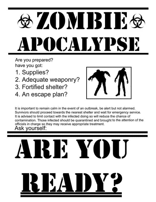 Are you ready Zombie Apocalypse Poster