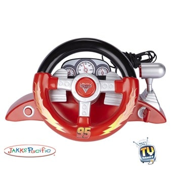 Cars 2 Racing Wheel Plug & Play TV Game