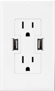 USB Built Right in Your Wall Outlet in this USB Wall Outlet