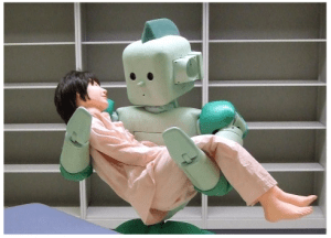 robot nurse taking care of patient