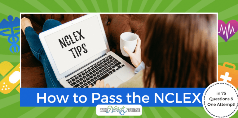 How to Pass the NCLEX in 75 Questions an 1 Attempt - NCLEX tips - FB