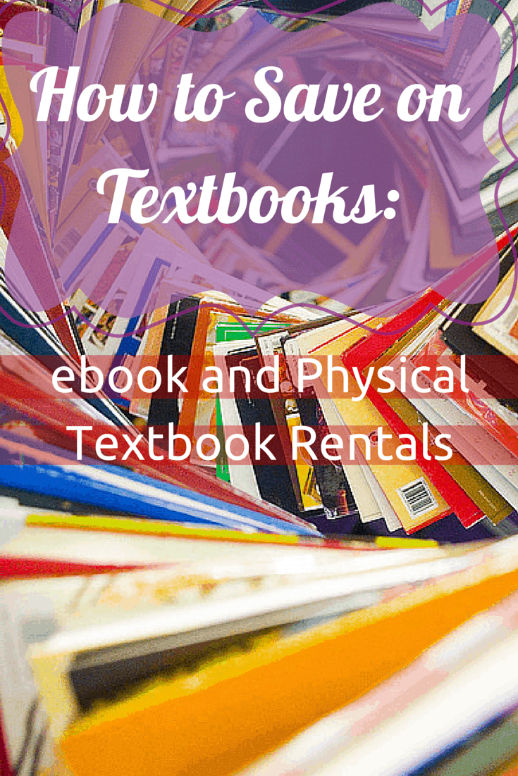 How to Save on Textbooks- ebook and