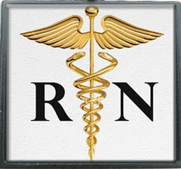 rn registered nurse charm pendant