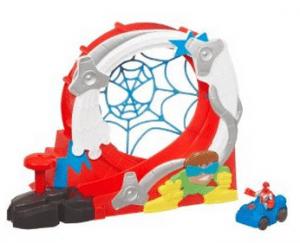 Toddler Toy Review: MARVEL Spider-Man Adventures PLAYSKOOL HEROES – STUNTACULAR SPEED LOOP Set (And Bonus Spider-Man Story!)