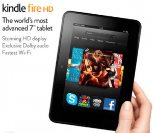 amazon kindle fire HD hot