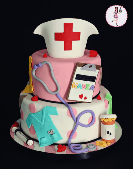 As A Nurse I Love My Clipboard So The Addition Of To This Adorable Cake