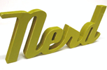 nerd wooden sign