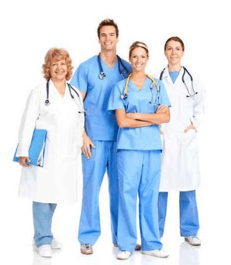 smiling nurse standing