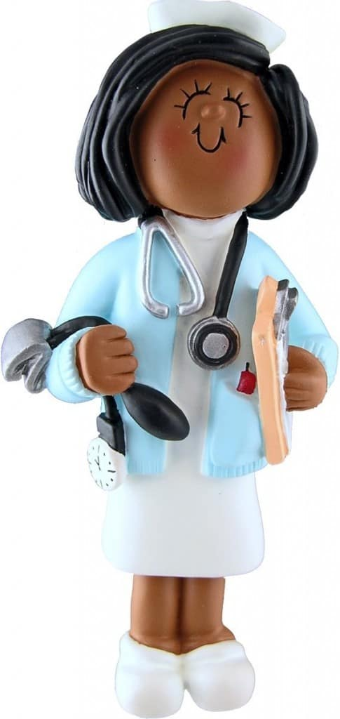 African American Nurse Ornament
