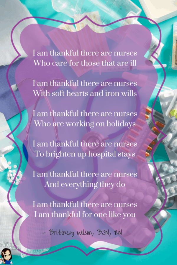 I am thankful there are nurses