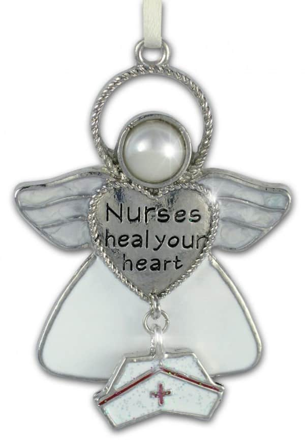 Nurses Heal Your Heart Angel Ornament