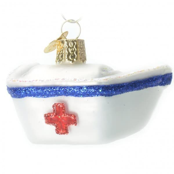 Old World Christmas Nurse's Cap Glass Ornament