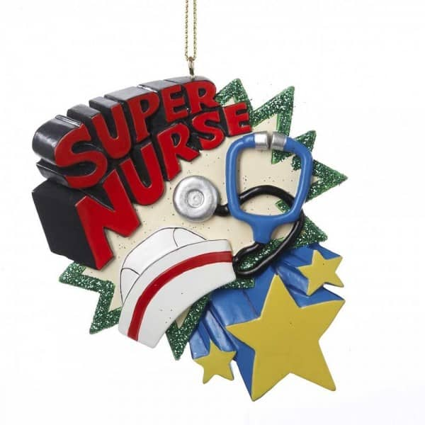 Super Nurse Christmas Ornament