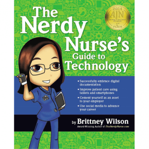 The Nerdy Nurse Book Cover with Award Sticker