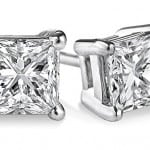 Princess Cut Diamond Stud