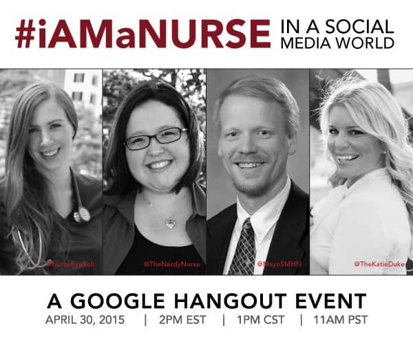 iAMaNURSE Google Hangout with Social Media Nurses