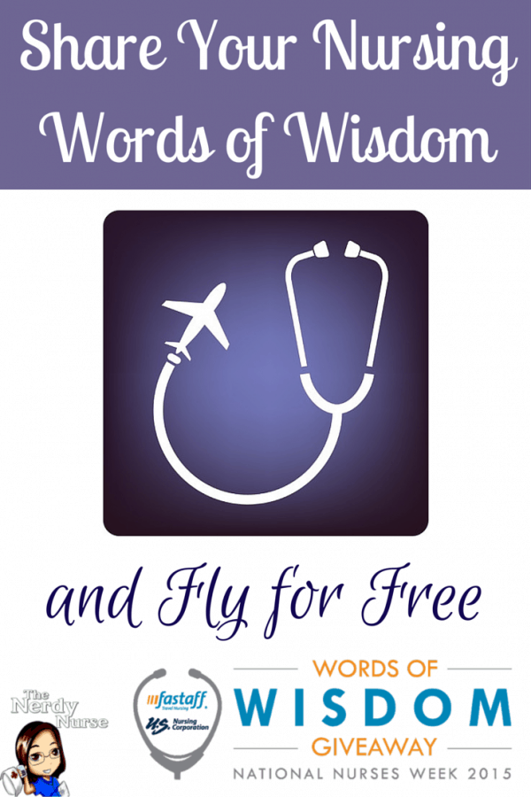 Share Your Nursing Words of Wisdom and Fly for Free