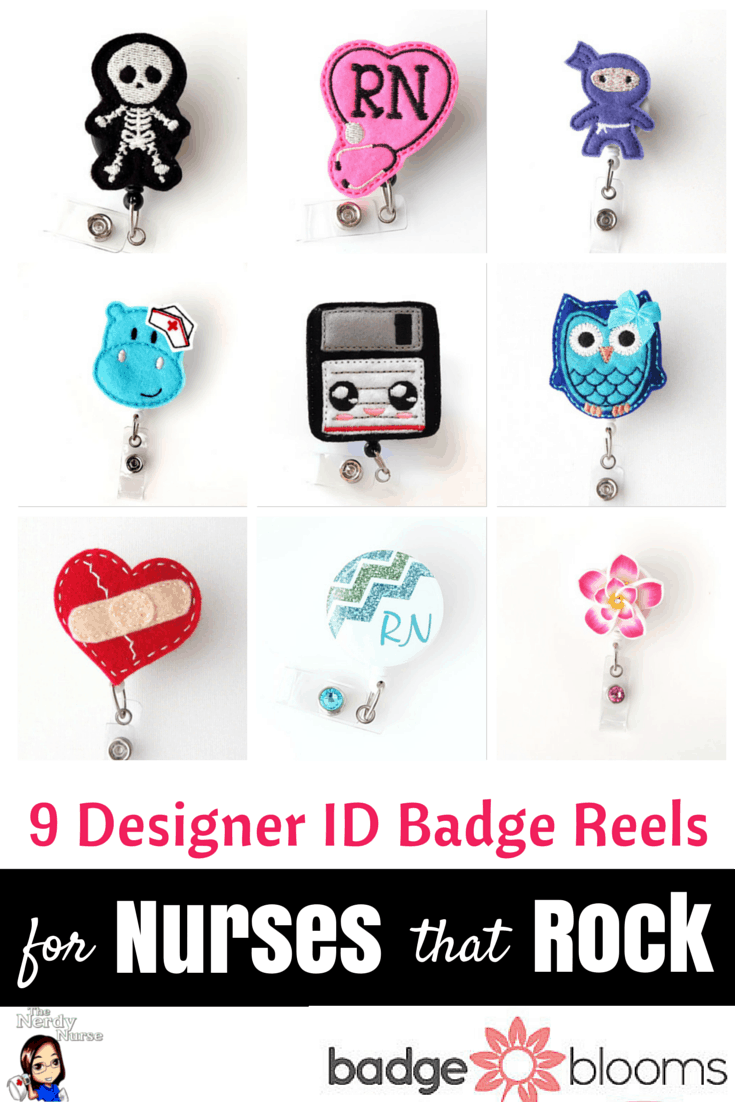 9 Designer ID Badge Reels for Nurses that Rock