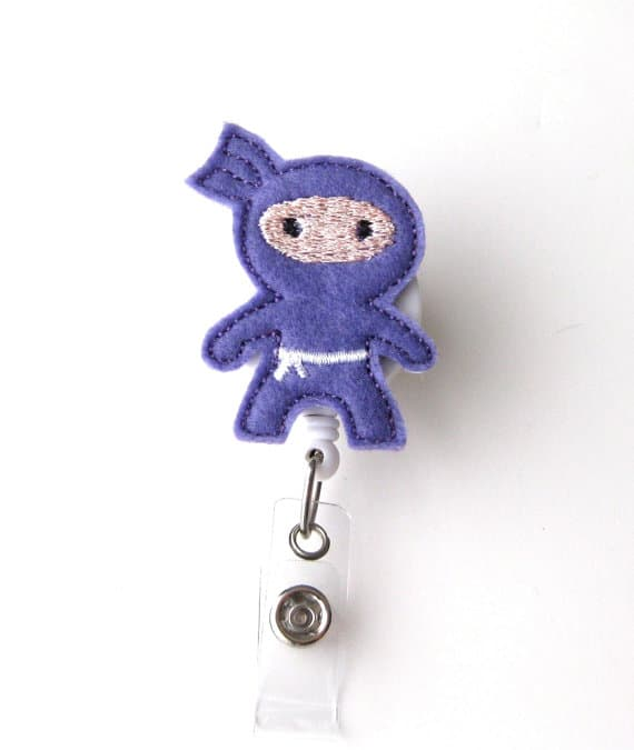 Purple Ninja Badge Reel