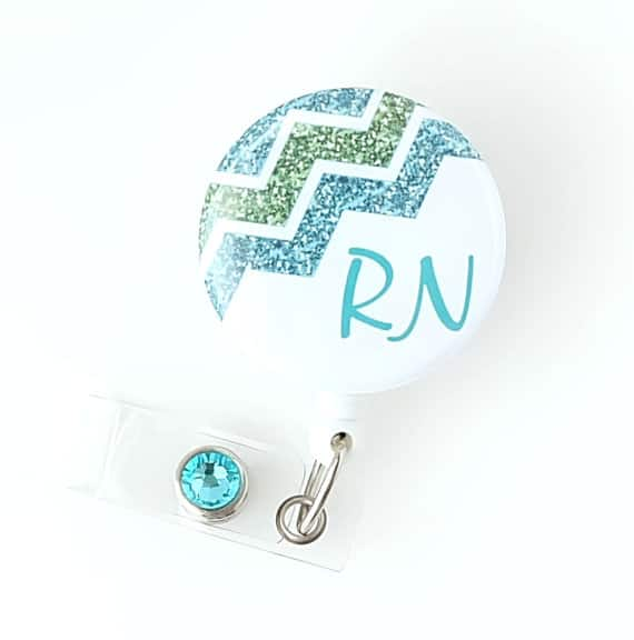 Registered Nurse RN Chevron Badge Reel