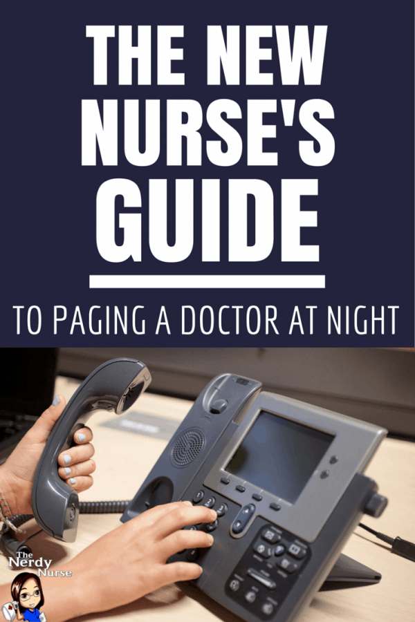 The New Nurse's Guide to Paging a Doctor at Night