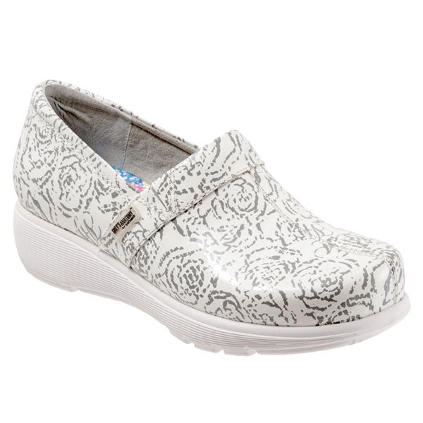 White Floral Patent