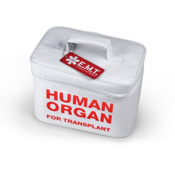 Human Organ for Transplant Insulated Lunch Tote