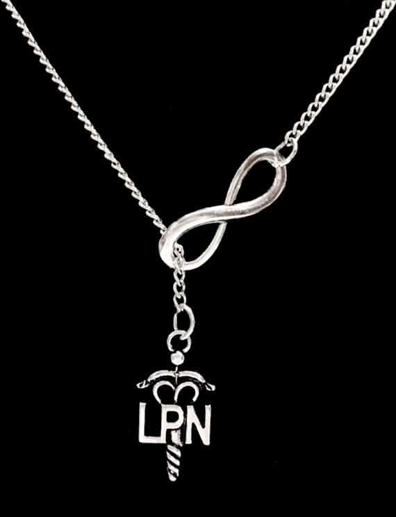 Infinity Nurse LPN Licensed Practical Gift Y Lariat Necklace From HeavenlyCharmed