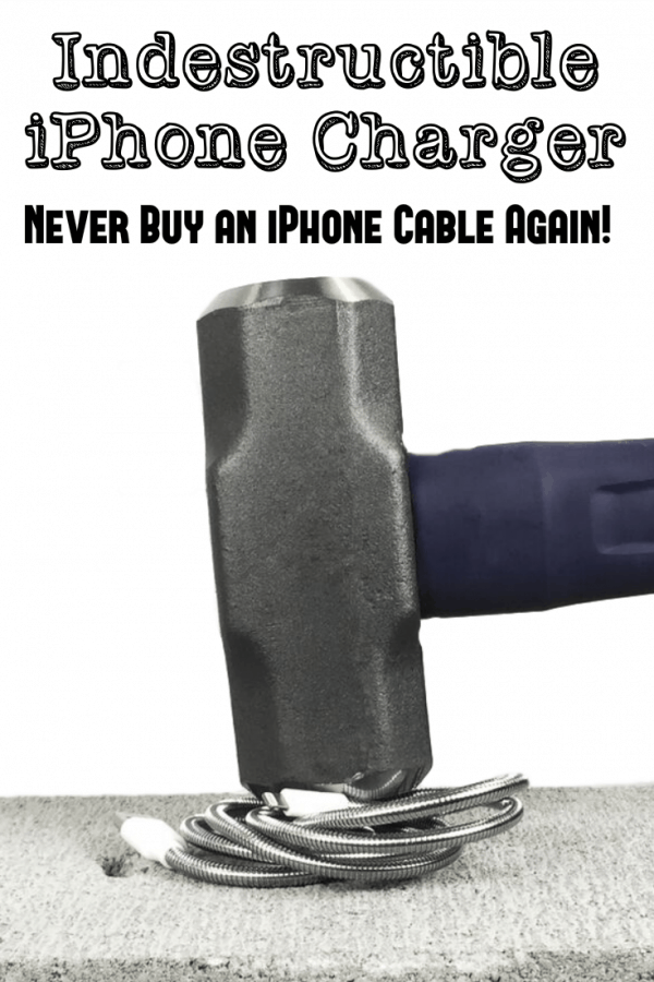 Indestructible iPhone Charger - Never Buy an iPhone Cable Again