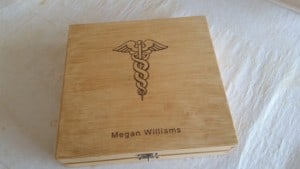 Personalized Nurse Keepsake Box