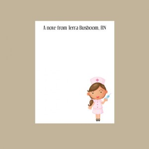 Personalized Nurse Notepad