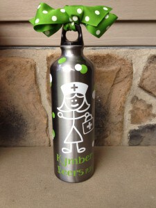 Personalized Nurse Water Bottle