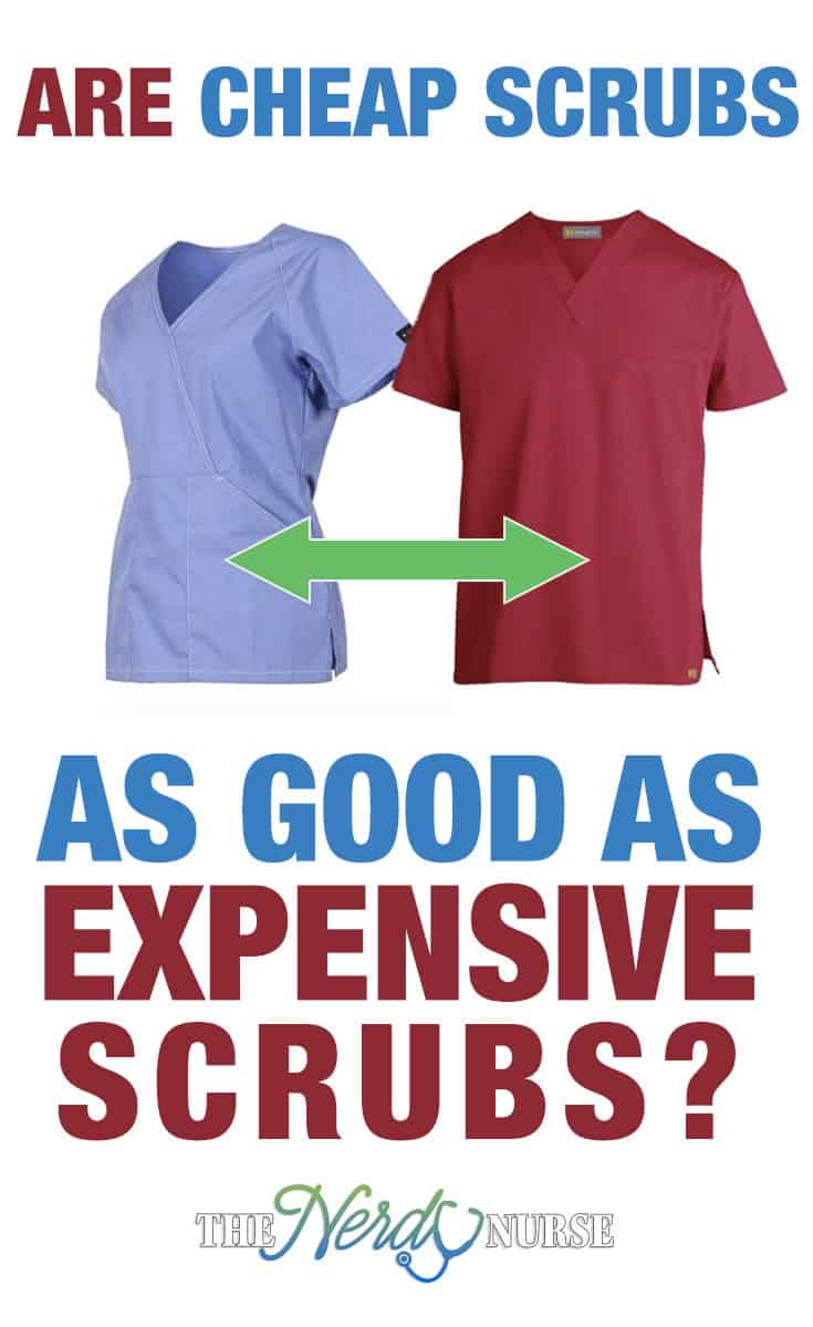 Let's review the pros and cons of buying scrubs at a premium price and buying cheap scrubs. Can cheap scrubs perform as well as expensive scrubs?