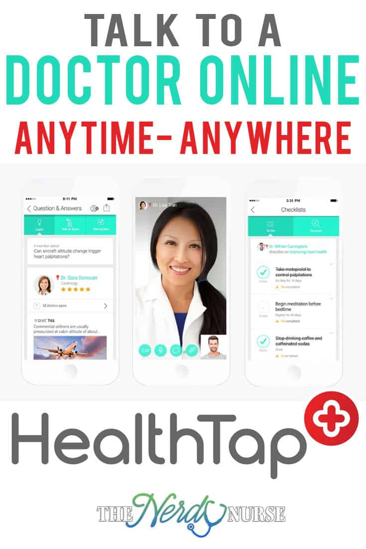 No matter the time of day or night, and no matter where you are, HealthTap allows you to talk to a doctor online. Ask questions, get diagnosed, and more.