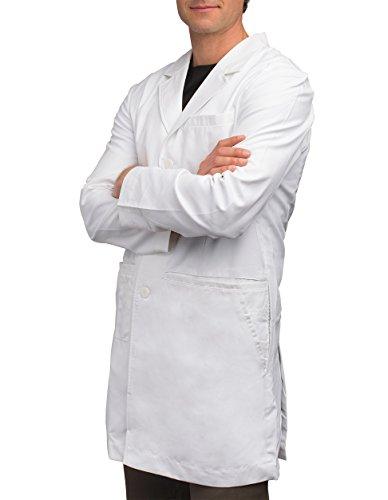 A male nurse in a white lab jacket