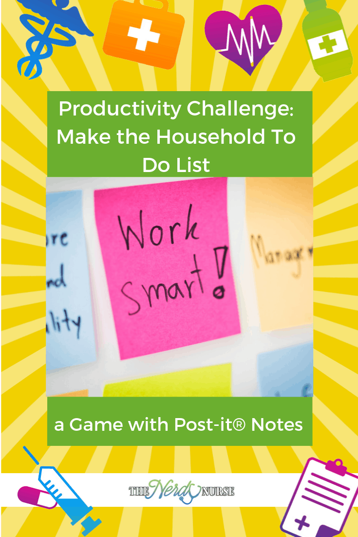 Productivity Challenge: Make the Household To Do List a Game with Post-it® Notes