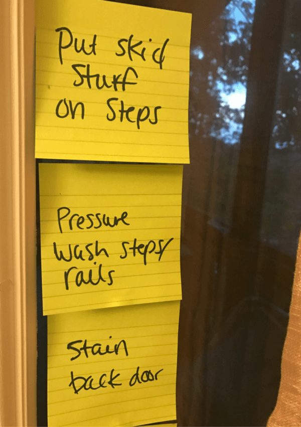 post-it notes productivity challenge