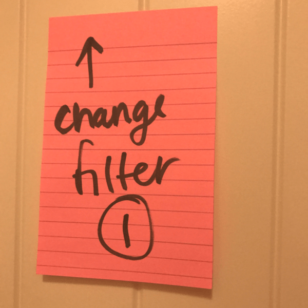 change air filter - game - post-its