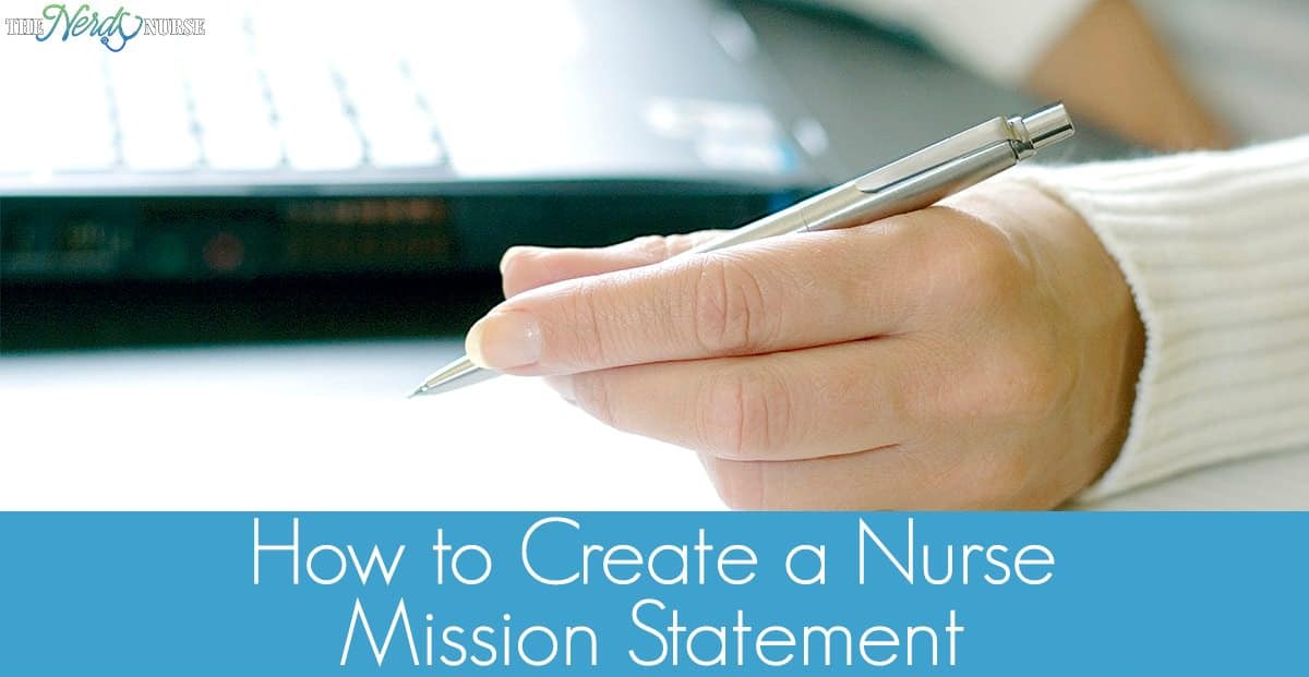 I created a nurse mission statement for myself. Let's talk about what a nurse mission statement is and how to create your own.