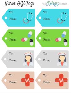 nurse gift tags