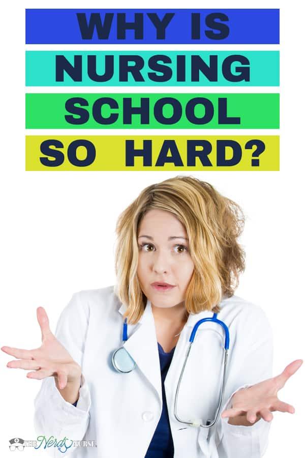 Why is Nursing School So Hard? #thenerdynurse #nurse #nurses #nursingschool