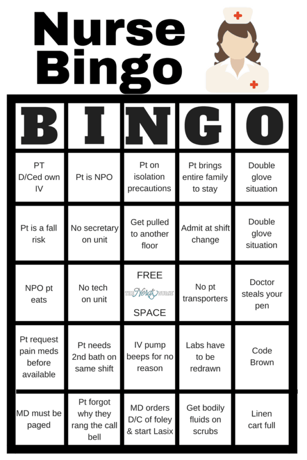c2063e08e6 Liven up any shift with a fun game of bingo. See who can fill a row first!  Fill a whole card and lose grip with reality.