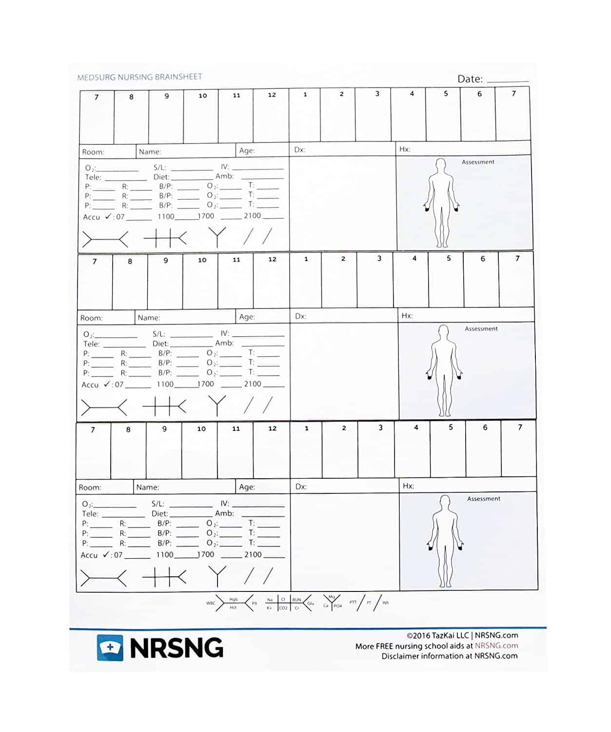 Nursing Brain Sheet