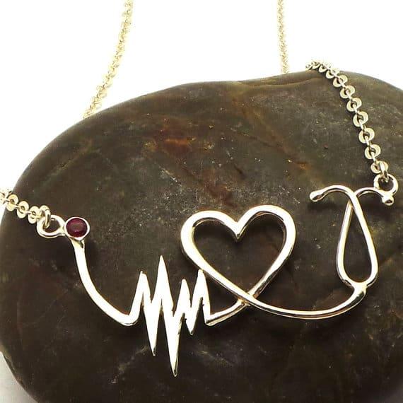 Nurse Heartbeat Stethoscope Necklace