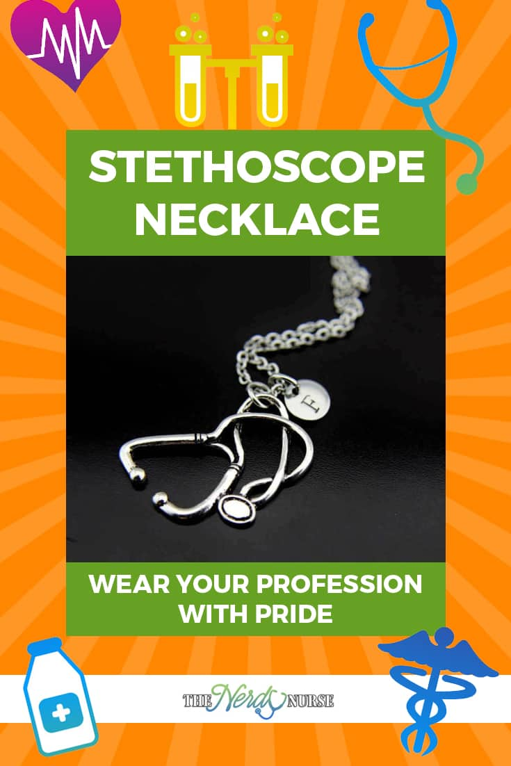 Stethoscope Necklace - Wear Your Profession with Pride. A Stethoscope necklace is a great way to carry your profession close to your heart and wear it with pride! Fashionable yet symbolic of a noble profession! #thenerdynurse #nurse #nurses #necklace #nursegear #giftsfornurses