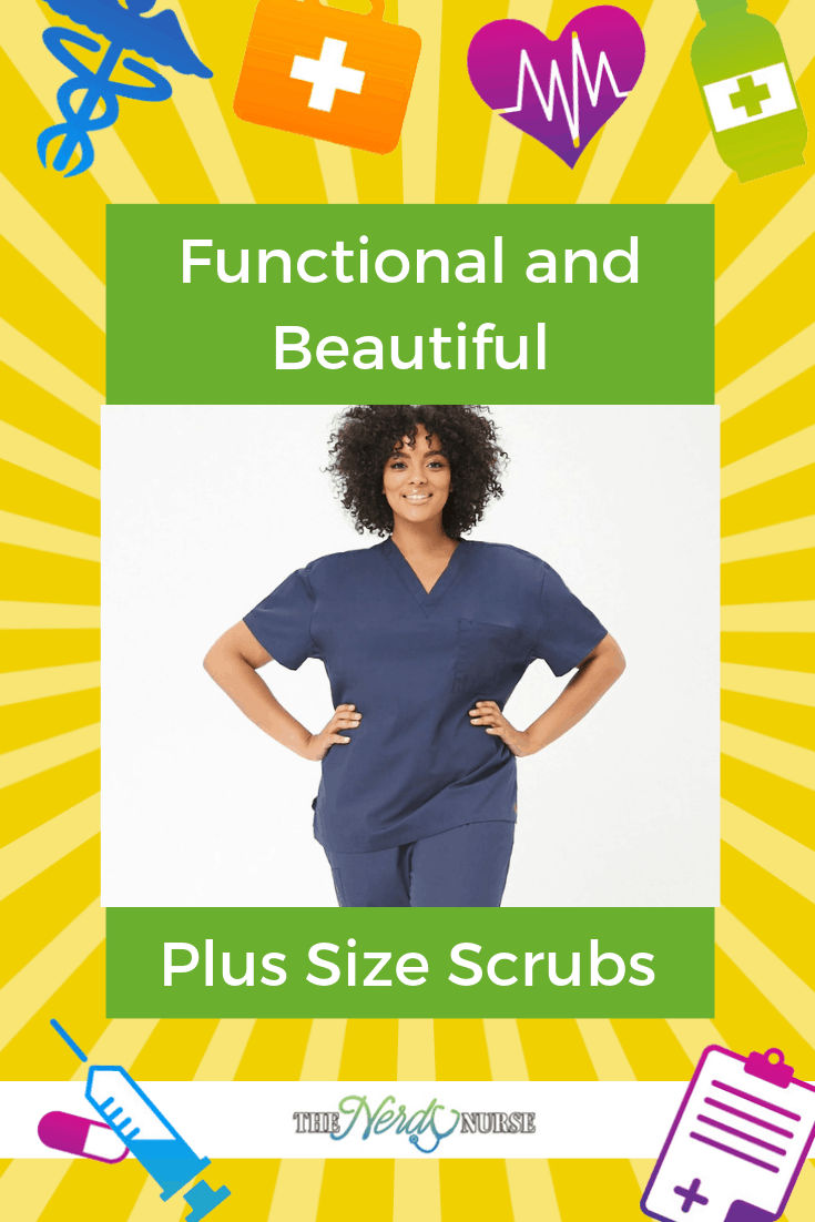 Plus Size Scrubs that are Functional and Beautiful. Find the best deal on plus size scrubs. #nurse #nurses #nursing #thenerdynurse #scrubs #nursescrubs #plussize #nursefashion