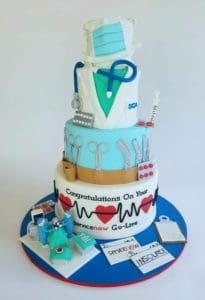 A nurse themed 3-tier cake from Hope's Sweet Cakes