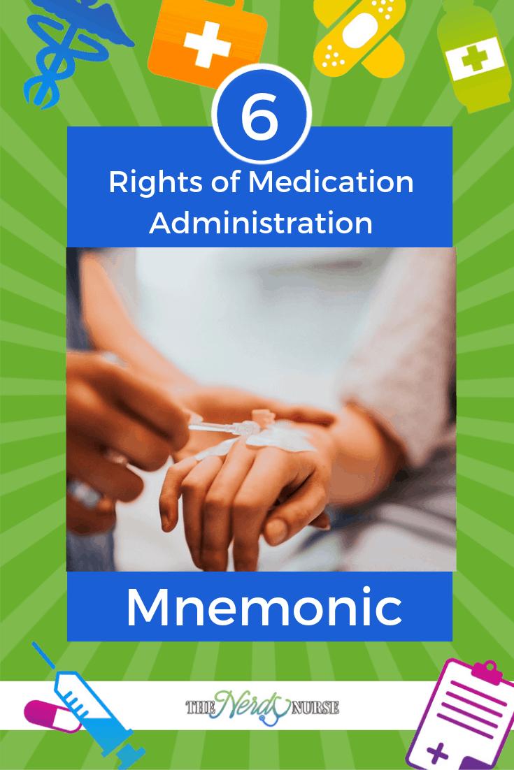 6 Rights of Medication Administration Mnemonic #thenerdynurse #nurse #nurses #mnemonic #drugadminstration #nursingstudent