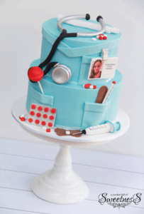 Round customized nurse cake