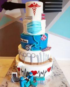 5-tiered nurse cake